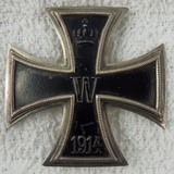 WW1 Period Iron Cross 1st Class-Pin Back-Silver Hallmarked