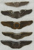 5pcs-WW2 Period U.S. Army Air Forces Wings-Full Size