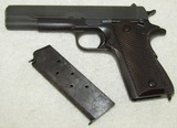 WW2 Late War Colt M1911A1 .45 Pistol With Clip