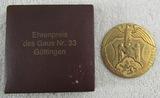 Rare Cased NSDAP 15 Year Honorary Award For Gau District Nr. 33 Gottingen Medallion