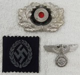 3pcs-Misc. WWII Period German Cap Insignia