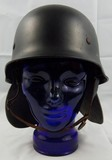 M34 German Civil Police Helmet-With Neck Flap/Chin Strap