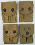 4pcs-WW1/WW2 U.S. .45 Pistol Clip Pouches