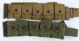 2pcs-WW1 and WW2 U.S. Army Ammo Belts