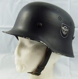 M34 German Civil/Fire Police Helmet With Liner/Chin Strap