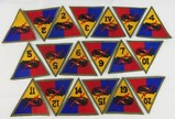 19pcs-WW2 Period U.S. Armored Division Patches