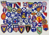 47pcs-Misc WW2 U.S. Command Patches Etc.
