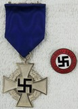 2pcs-25 Year Faithful Service Medal-NSDAP Party Pin