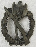 Infantry Assault Badge-No Maker-Bronze?