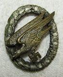 WW2 Period Luftwaffe Paratrooper Badge With Period Modification