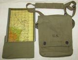 WW2 Period U.S. Army Officer's Named Map Case With Normandy Coast Map