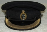 WWII British Signal Corps Dress Visor Hat For Senior Officer Ranks.