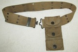 Scarce WW1 Period Colt DA 45 Revolver Drop Down Ammo Pouch With Belt