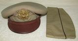 WW2 Period U.S. Army/Army Air Forces Officer's Khaki Visor Hat-Luxenberg-Khaki Garrison Cap