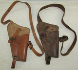 2pcs-WW2 Period U.S. .45 M1911A1 Pistol Shoulder Holsters