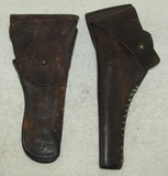 2pcs-WW1 US  .45 M1911 Holster-1903 Dated US Revolver Left Handed Holster