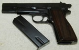 WW2 Period Browning High Power Pistol-Belgium Proof Marks