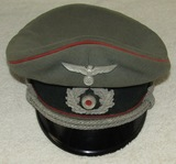 WWII Period German Artillery Officer's Visor Hat