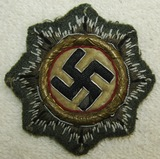 Cloth German Cross In Gold-Uniform Removed
