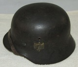 M40 Single Decal Heer Helmet With liner/Chin Strap