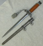 Wehrmacht Officer's Dagger With Scabbard/Portapee-Rare