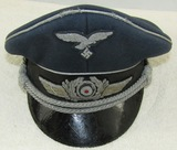 Luftwaffe Officer's Visor Hat-Bullion Insignia-Pekuro
