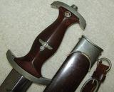 Early SA Dagger With Scabbard/Hanger-Scarce Maker Of MALSCH & AMBRONN