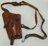 WW2 Period  German Officer/Pilot's Leather Holster Rig For P38 Pistol-With Clip