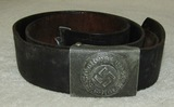 German Combat Police Buckle With Belt