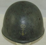 WW2 M33 Italian Royal Marines Helmet With Vet Capture Signatures