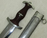 Rare Pre WW2 SA Dagger With Birthday Dedication Scabbard-Rare Maker