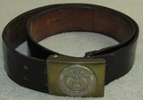 Sa 2pc Buckle With Leather Belt-Sunwheel Swastika