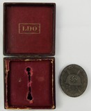 Silver Wound Badge With Issue Case-Klein & Quenzer