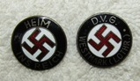 2pcs-WW2 Period Party Pins-