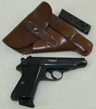 WW2 Period Walther PP Pistol With Nazi proof Marks/Holster With Extra Clip