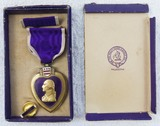 Early BB & B Purple Heart-Named/Numbered-Split Wrap Brooch