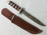 WW2 Theater Made U.S. Soldier Fighting Knife With Leather Sheath