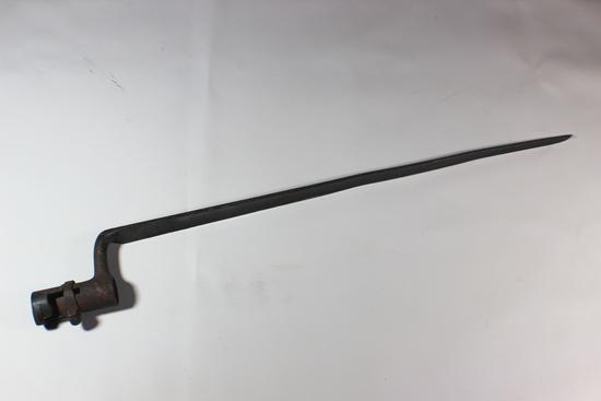 "US Civil War 18"" Unmarked Socket Bayonet"