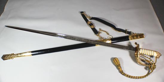 Cold War Era British Queen Elizabeth Royal Navy Sword Hangers Portapee 1981