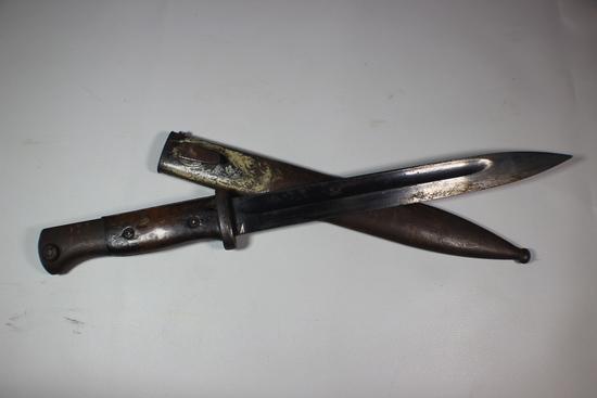 WW2 German K98 S/155G Bayonet With Scabbard. Mismatched.