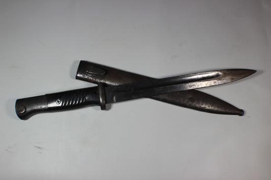 WW2 German K98 Bayonet. 42 ASW. Mismatched Unmarked Scabbard.