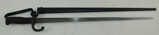 Rare M1874 French Gras Bayonet With Scabbard-Removeable Hand Guard