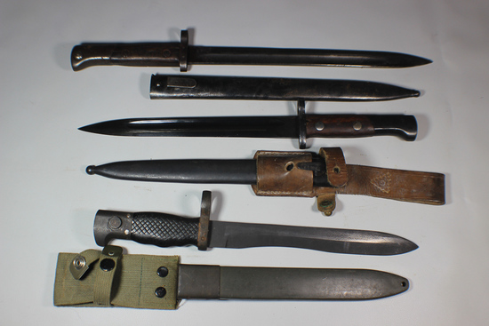 World Lot - 3 Bayonets. Czech VZ-24, Spanish Bolo , & Yugoslavian M48.