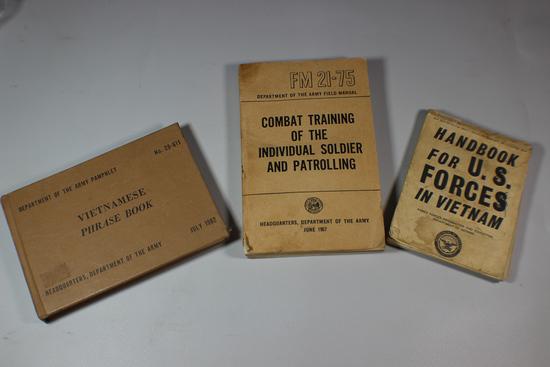 Lot of 3 US Vietnam Field Manuals & Handbooks