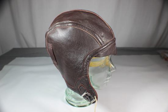 US WW2 NAF 1092 USN Navy Leather Flight Helmet. Mint Condition.