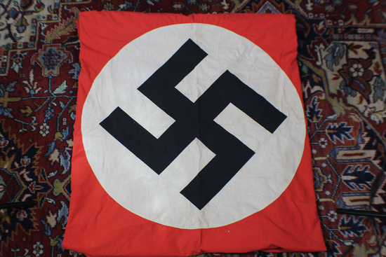 "WW2 German Full Sized Party Banner. 45"" X 90"". Very Nice. Double Sided."
