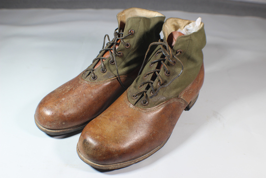 WW2 German Tropical Low Boots With Hob Nail Soles