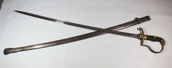 WW1 Imperial German Monogramed Officer's Sword Alcoso.