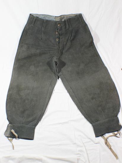 WW2 Italian Grey Gabardine Pantaloons. Combat Pants. Nicely Marked.