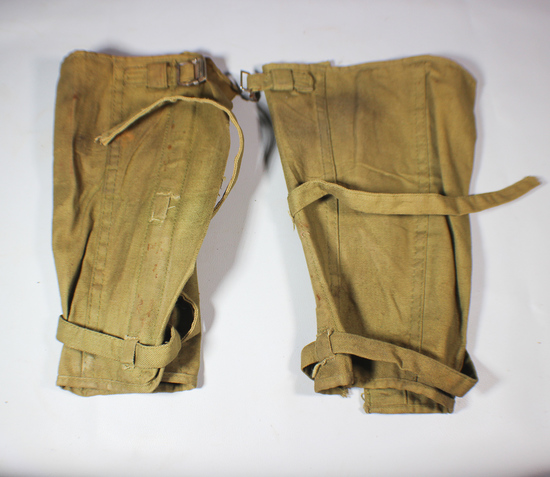 Spanish American War Canvas Cavalry Gaiters.